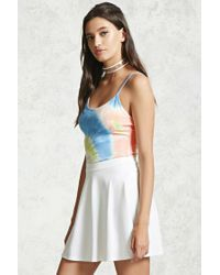 Forever 21 - Multicolor Tie-dye Cami Bodysuit - Lyst