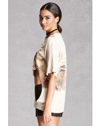 Forever 21 - Multicolor Distressed Wolves Graphic Tee - Lyst