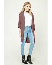 Forever 21 - Purple Contemporary Dolman Cardigan - Lyst