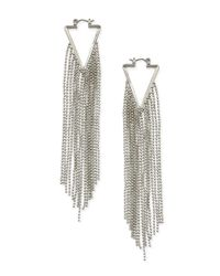 Forever 21 - Metallic Ball Chain Duster Earrings - Lyst