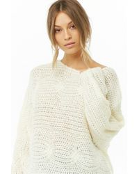 Forever 21 - White Cable Knit Sweater - Lyst