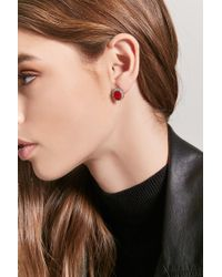 Forever 21 - Red Halo Stud Earrings - Lyst