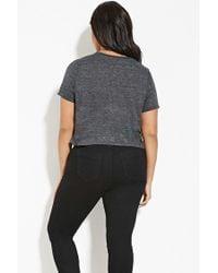 Forever 21 | Gray Plus Size Slub Knit Tee | Lyst