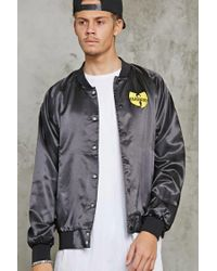 Forever 21 - Black Wu-tang Graphic Satin Jacket for Men - Lyst