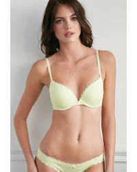 Forever 21 | Green Cotton-blend Push-up Bra | Lyst
