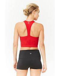 Forever 21 - Red Active Ribbed Knit Tank Top - Lyst