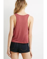 Forever 21 - Pink Scoop Neck Tank - Lyst