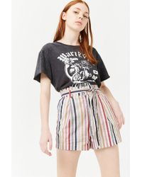 Forever 21 - Multicolor Striped Paperbag Shorts - Lyst
