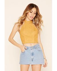 Forever 21 - Multicolor Abstract Embroidered Crop Top - Lyst