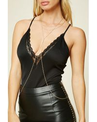 Forever 21 - Metallic Twisted Body Chain - Lyst