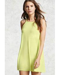 Forever 21 - Yellow Mini Shift Dress - Lyst
