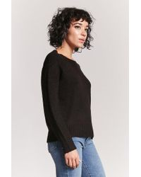 Forever 21 - Black Boat Neck Jumper - Lyst