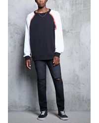 Forever 21 - Black Faded Wash Skinny Jeans for Men - Lyst
