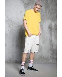Forever 21   Yellow Slub Knit Pocket Tee for Men   Lyst