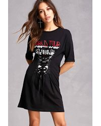 84a106abc68 Lyst - Forever 21 Tour Corset T-shirt Dress in Black