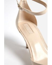 Forever 21 - Natural Faux Suede Pointed-toe Ankle-wrap Heels - Lyst