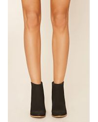 Forever 21 - Black Faux Leather Chelsea Boots - Lyst
