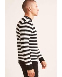 Forever 21 - Black Ribbed Stripe Sweater for Men - Lyst