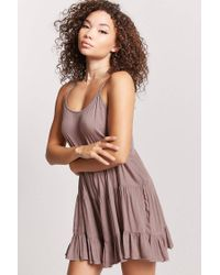 Forever 21 - Purple Tiered-seam Cami Dress - Lyst