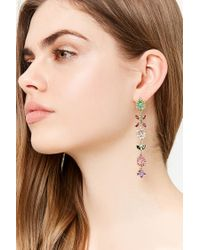 Forever 21 - Metallic Faux Jewel Drop Earrings - Lyst