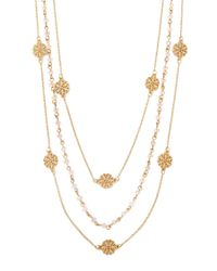 Forever 21 - Metallic Layered Bead Necklace - Lyst