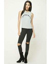 Forever 21 - Gray Sundaze Graphic Muscle Tee - Lyst