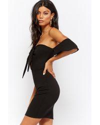 Forever 21 - Black Sweetheart Bodycon Dress - Lyst