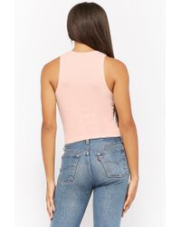 Forever 21 - Pink Women's Honey Graphic Tank Top - Lyst