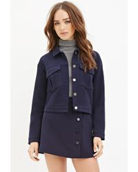 Forever 21 - Blue Collared Two-pocket Jacket - Lyst