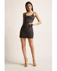 Forever 21 - Black Faux Suede Cami Dress - Lyst
