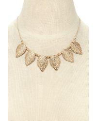 Forever 21 - Metallic Leaf Statement Necklace - Lyst