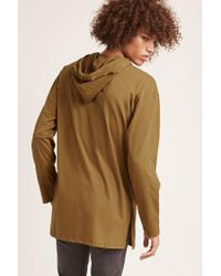 Forever 21 - Brown Longline Hoodie Tee for Men - Lyst