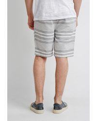 Forever 21 - Gray 's Mixed Stripe Shorts for Men - Lyst