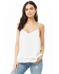 Forever 21 - Natural Women's Vented Double-layer Camisole Top - Lyst