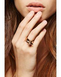 Forever 21 Pink Amber Sceats Metal Alexia Ring