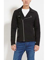 Forever 21 | Black Quilted Moto Jacket for Men | Lyst