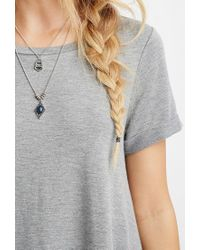 Forever 21 | Gray Heathered T-shirt Dress | Lyst