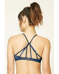Forever 21 - Blue Low Impact - Abstract Geo Sports Bra - Lyst