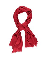 Forever 21 | Red Fringed Oblong Scarf | Lyst