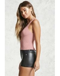 Forever 21 | Multicolor Ribbed Crisscross Cutout Top | Lyst