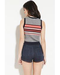 Forever 21 | Blue Stripe Jumper Vest | Lyst