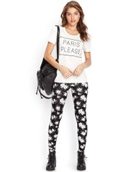 Forever 21 | White Paris Please Tee | Lyst