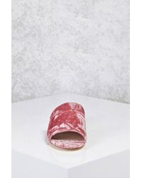 Forever 21 - Pink Crushed Velvet Mules - Lyst