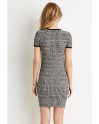 Forever 21 - Gray Ribbed Knit Marled Dress - Lyst