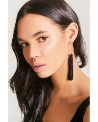 Forever 21 - Black Tassel Duster Earrings - Lyst