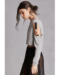 Forever 21 Gray Key Chain Crop Top