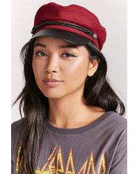 Forever 21 - Red Wool-blend Cabby Hat - Lyst