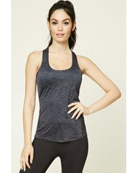 Forever 21 - Blue Active Racerback Tank - Lyst