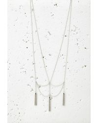 Forever 21 - Metallic Drapey Chain Tassel Necklace - Lyst