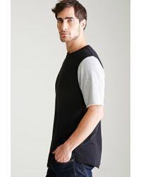 Forever 21 - Gray Colorblocked Sweatshirt Tee for Men - Lyst